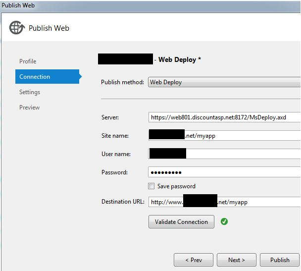 How to deploy a Visual Studio 2013 Web Application Project to