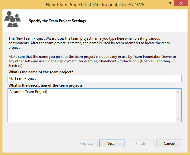 team foundation server process templates - getting started with team foundation server 2013 tfs